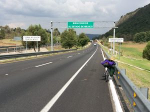 Crossing from Michoacan to the District of Mexico