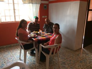 Lunch. The restaurant owner, La Alcancia, is 3rd from left.