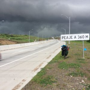 Last leg to the Panama airport and impending rain.