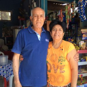 Jorge and Lua. They ran a cafe in Piura that served very good, home cooked food. Inside there was a poster of themselves, children and grand children on they're 65th anniversary. I told them my parents made to 68 years but weren't in as good of shape as them.