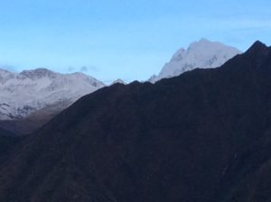Salcantay, 21,000 feet, is the high point of the Cordillara V. Described as a deeply incized range, Salcantay is Peru's second highest in prominence. It's too bad I have have to keep bypassing these beautiful peaks.